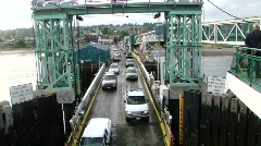 Passenger cars rolling onto Washington State ferry 541-1 Stock Footage