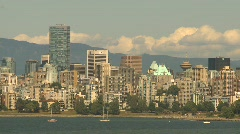 Vancouver skyline, #19 summer day Stock Footage