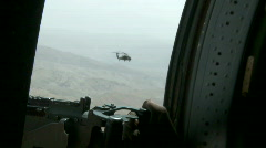 Black Hawk Door Gunner m Stock Footage