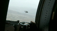 Stock Video Footage of Black Hawk Door Gunner m
