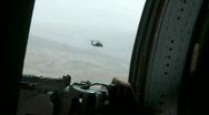 Black Hawk Door Gunner m Stock Footage