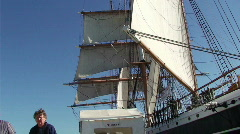 Large tourist ship HD Stock Footage