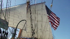 Old ship with flag HD - stock footage
