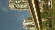 Vertical, skytrain and condo Stock Footage