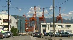 Railroad, intermodal container train and shipyard 2-shot Stock Footage