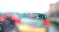 Stock Video Footage of rain and Car driving by day