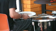 Rockabilly drummer. Stock Footage