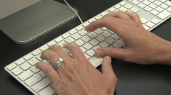 Keyboard Typing (Zoom) 720 Stock Footage