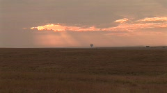 Balloon over landscape Stock Footage
