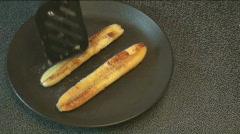 Bananas Flambe Stock Footage