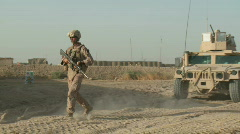 Marines on Patrol in Afghanistan (HD) m - stock footage