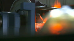 Glass workshop Stock Footage