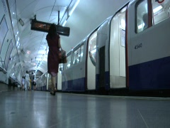 Subway, London Underground Tube 2 Stock Footage