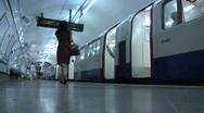 Subway, London Underground Tube 2 Stock Footage