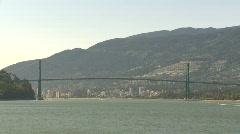 Lions Gate bridge, #4 - stock footage