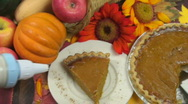 Stock Video Footage of Pumpkin pie topping