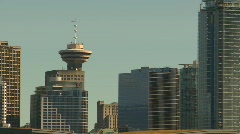 Vancouver skyline, #10 three shot Stock Footage