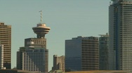 Stock Video Footage of Vancouver skyline, #10 three shot