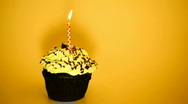 Cake and candle Stock Footage