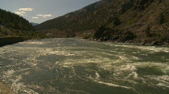 Whitewater rapids river, #8 pan Stock Footage