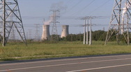 Stock Video Footage of Biker Rides by Power Plant