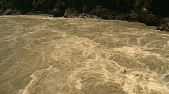 Hell's Gate canyon - Fraser River, whirlpools Stock Footage