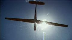 Glider Overhead - stock footage
