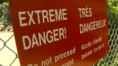 Extreme danger sign Stock Footage