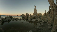 Tufas of Mono Lake in the Sierra Mountains - stock footage
