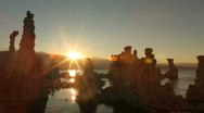 Stock Video Footage of Sunset Along the Tufas of Mono Lake in the Sierra Mountains