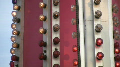 Fairground lights. Two shots. Stock Footage
