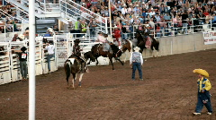 Saddle Bronc ride rodeo P HD 1079 - stock footage