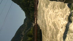 Hell's Gate canyon - Fraser River, vertical Stock Footage