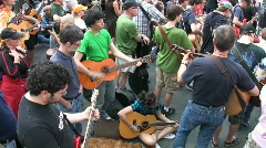 LOTS of Guitarists! 1 of 4. Stock Footage