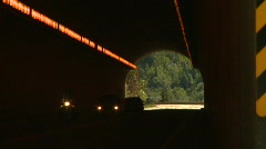 Yale highway tunnel, 2-shot Stock Footage