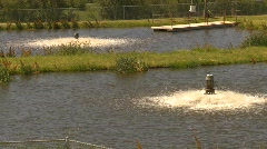 The environment, water aeration at industrial site, #1 Stock Footage