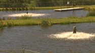 Stock Video Footage of the environment, water aeration at industrial site, #1