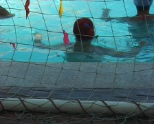 Waterpolo goalkeeper Stock Footage