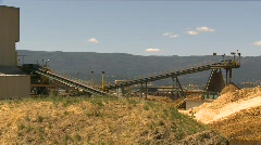 Log mill conveyor montage Stock Footage