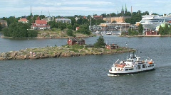 Leaving Helsinki harbor Stock Footage