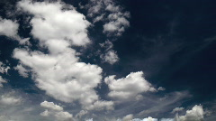 clouds on a beautiful sky: timelapse - stock footage
