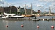 Harbor downtown Helsinki Stock Footage