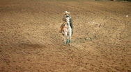 Stock Video Footage of Charro cowboy horse bow P HD 1099