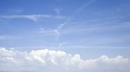 Clouds on a beautiful sky: timelapse Stock Footage