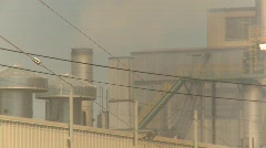 The environment, pollution exhaust industrial mill Stock Footage