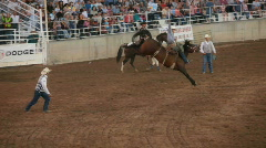 Saddle Bronc rider winner P HD 1080 Stock Footage