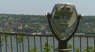 Stock Video Footage of New York Hudson River View & Binoculars