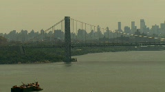 George Washington Bridge, North View Time Lapse Video - stock footage