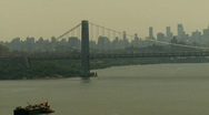 Stock Video Footage of George Washington Bridge, North View Time Lapse Video