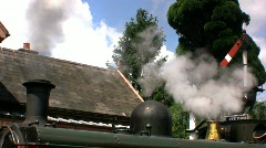 Steam train at the station - stock footage